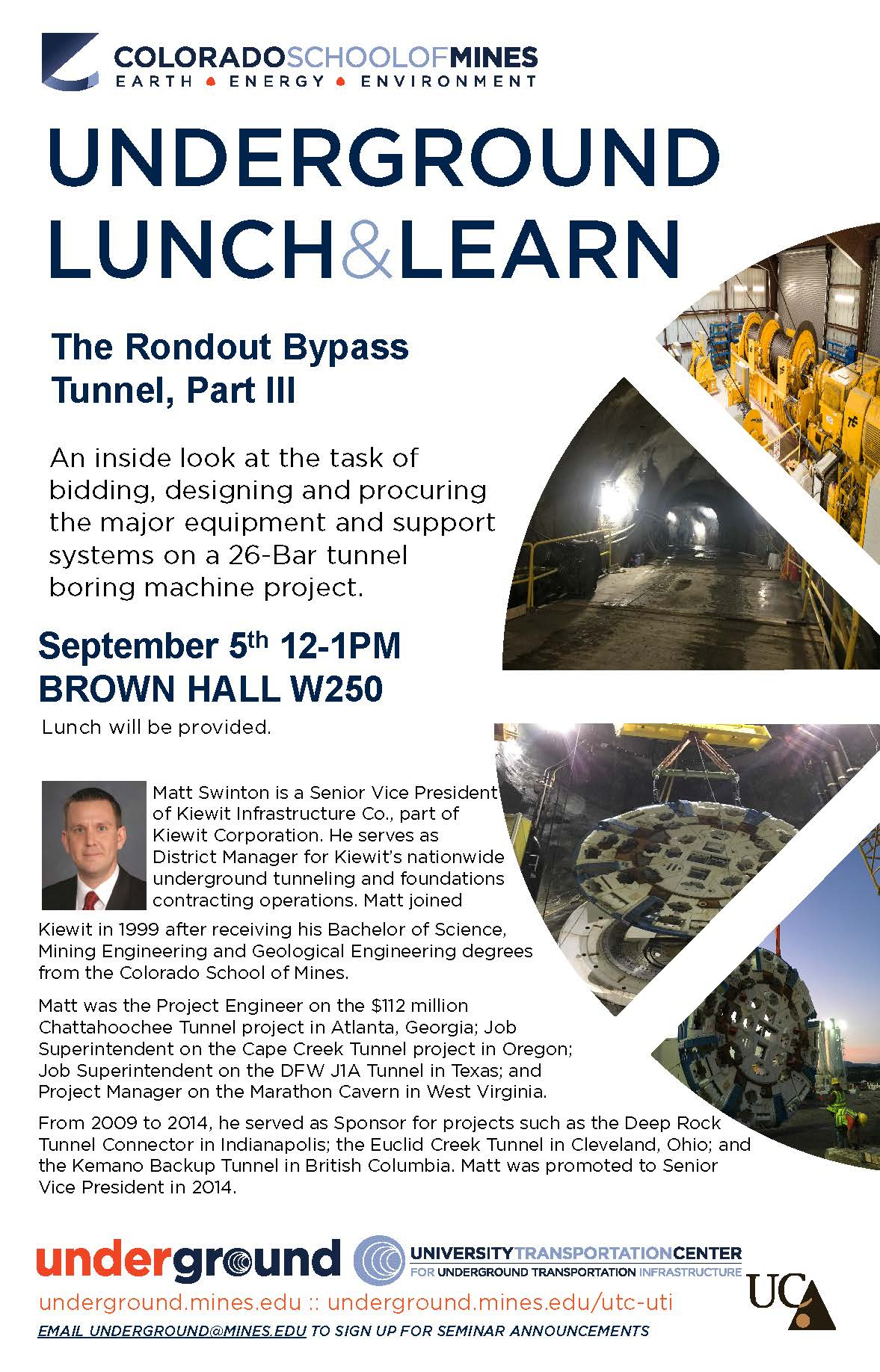 Underground Lunch And Learn  Today At Mines intended for Uti School Calendar