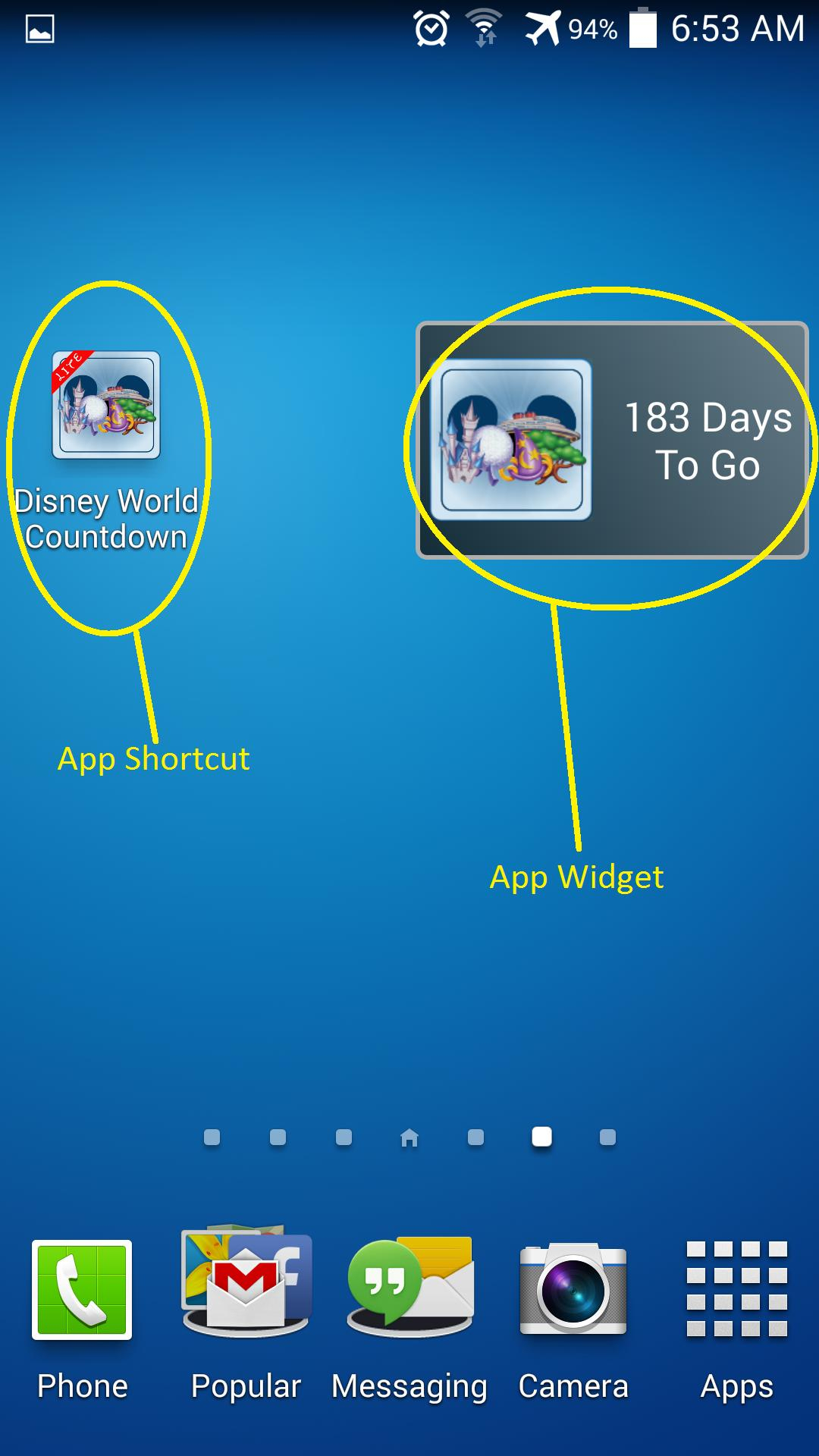 Unoffic Countdown 4 Disney Wdw For Android  Apk Download with regard to Disney Countdown Widget