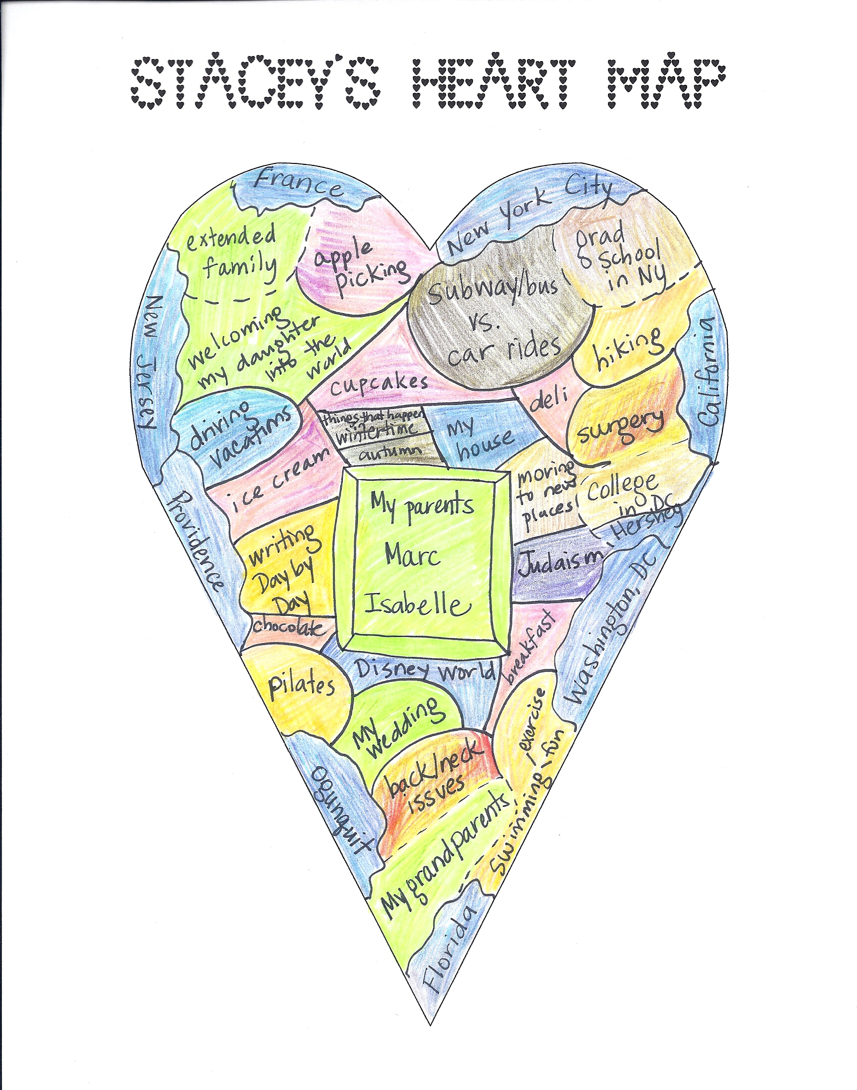 Updating Your Map | Two Writing Teachers pertaining to Heart Map Template