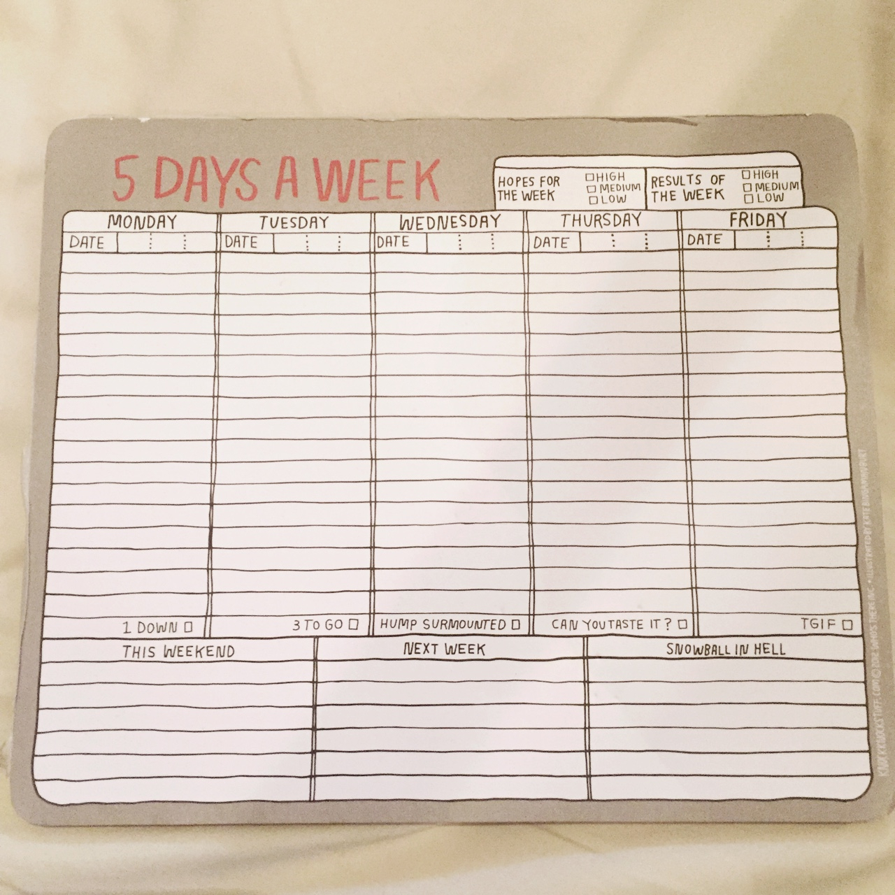 "Useful ""5 Days A Week"" Planner That I Bought From  Depop regarding 5 Days A Week Planner"