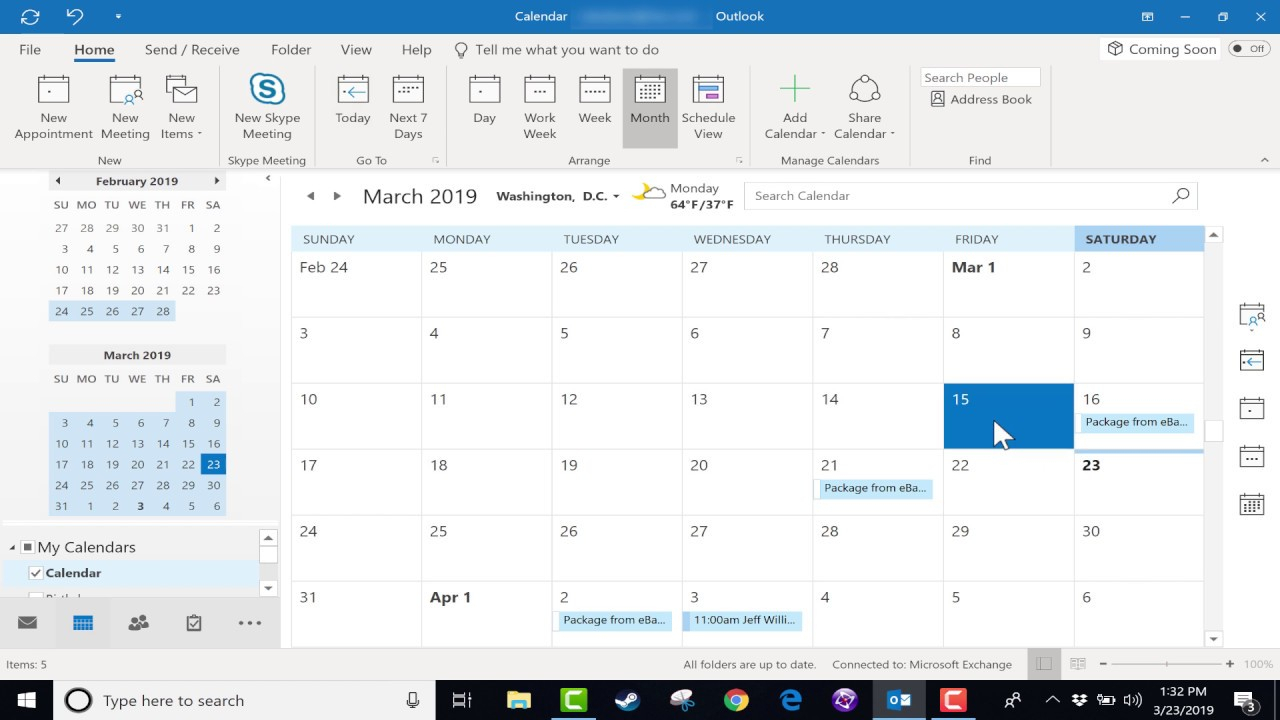 Using The Microsoft Outlook Calendar  2019 Tutorial inside View Calendar In Outlook 2016