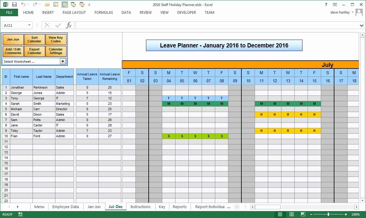 Vacation Schedule Template 2016 Fresh Vacation Calendar regarding Team Leave Calendar Excel