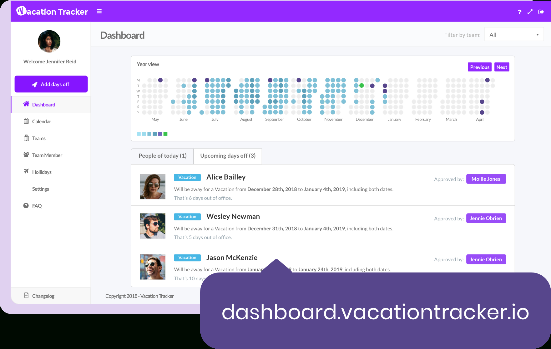 Vacation Tracker Features  Vacation Calendar & Leave Tracking throughout Pto Tracking Calendar