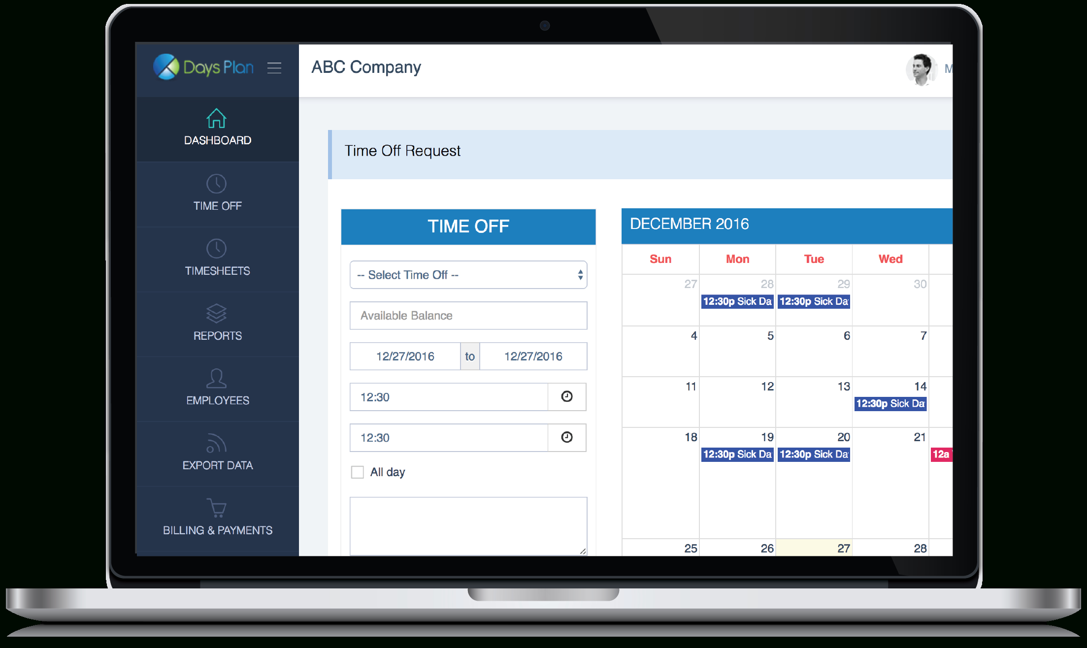 Vacation Tracking | Pto Management By Daysplan for Pto Tracking Calendar