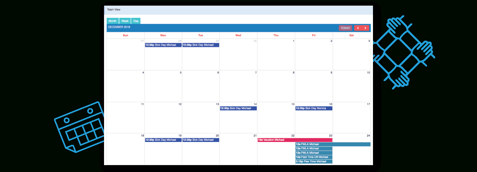 Vacation Tracking | Pto Management By Daysplan pertaining to Pto Tracking Calendar
