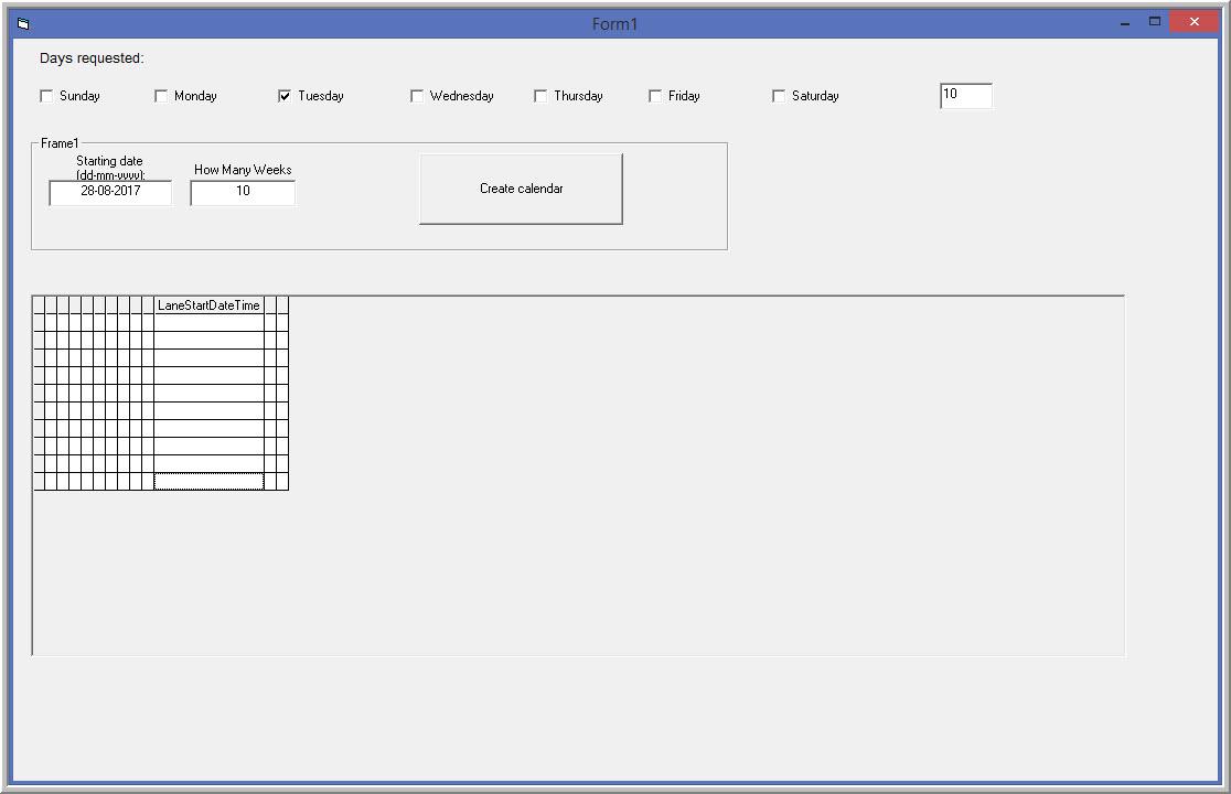 Vb6  Add Dates To Mshflexgrid By in Vb6 Calendar Control