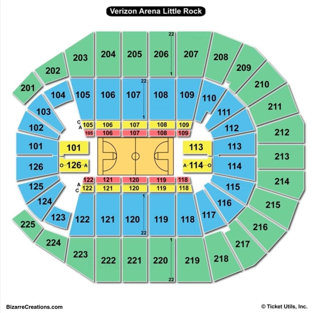 Verizon Arena Seating Chart | Seating Charts & Tickets regarding Verizon Center Seating Chart