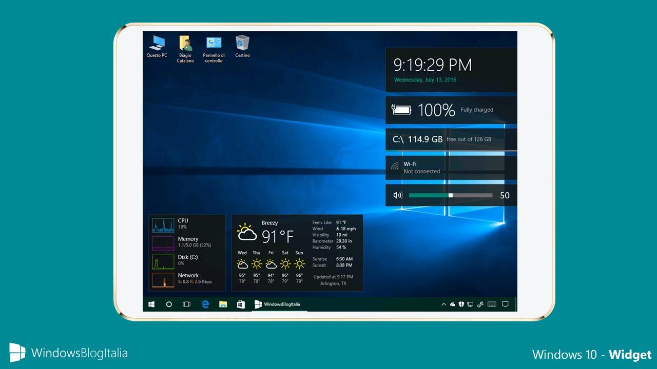 Vi Mancano I Gadget Del Desktop? Ecco Come Averli Su Windows 10 pertaining to Calendar Gadget Windows 10