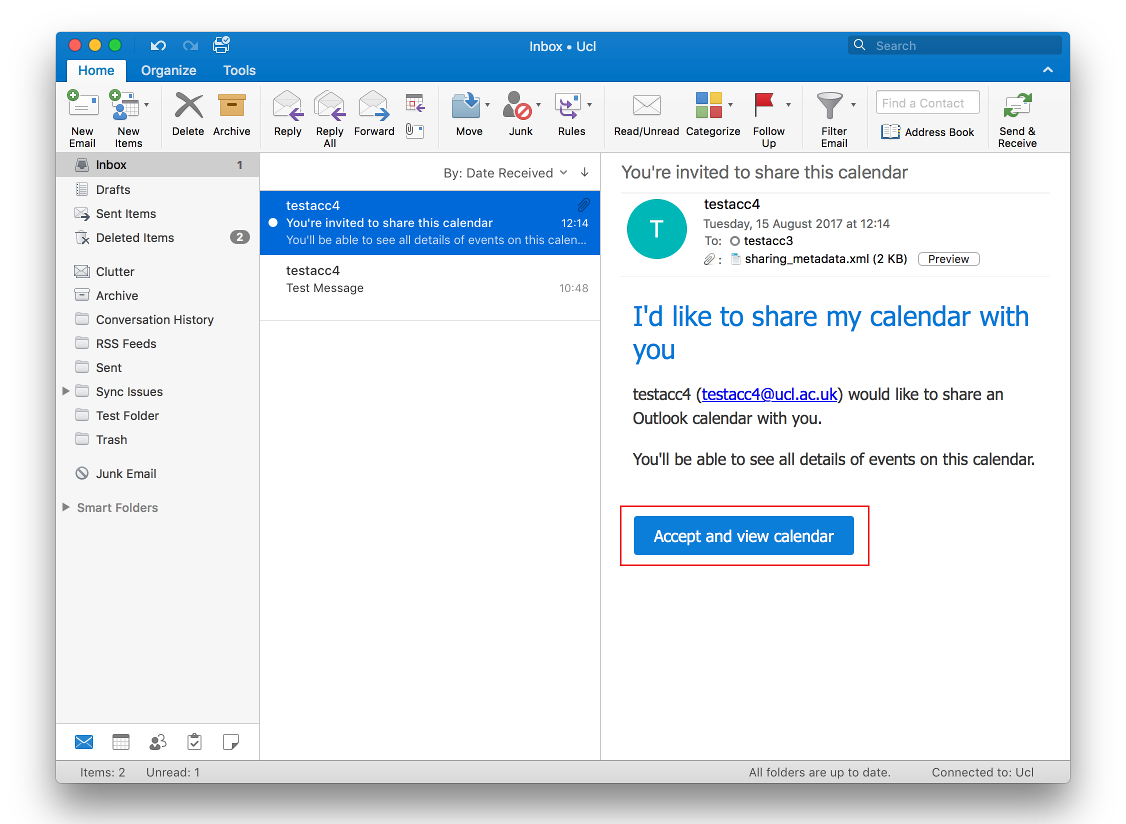 View Another Person's Calendar In Outlook 2016 For Mac in View Calendar In Outlook 2016