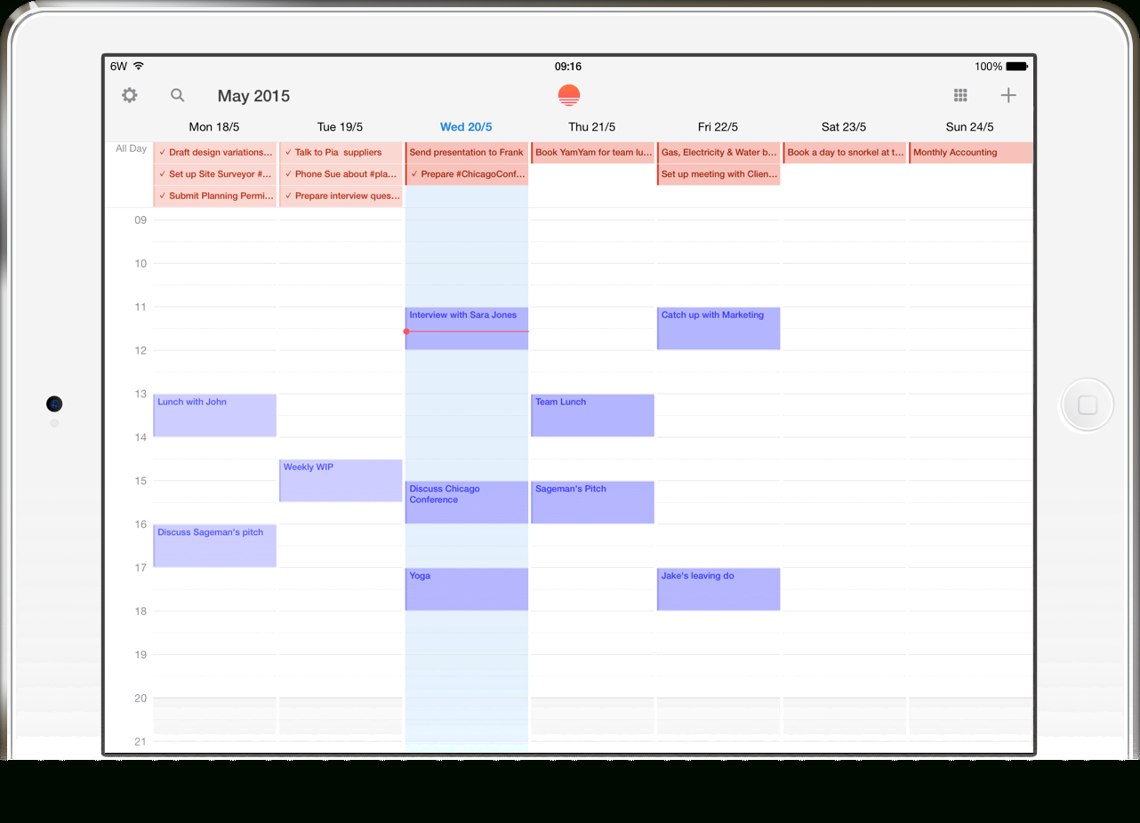 Wake Up With Wunderlist And Sunrise inside Wunderlist Calendar App