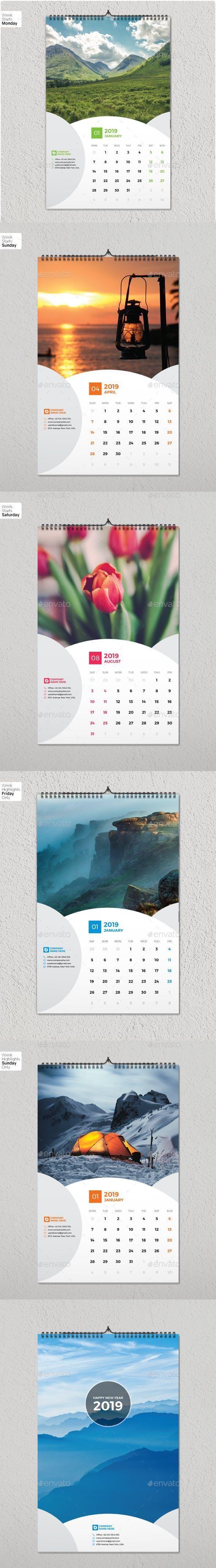 Wall Calendar 2019 #stationeryshop #printtemplates intended for Cvs Desk Calendar