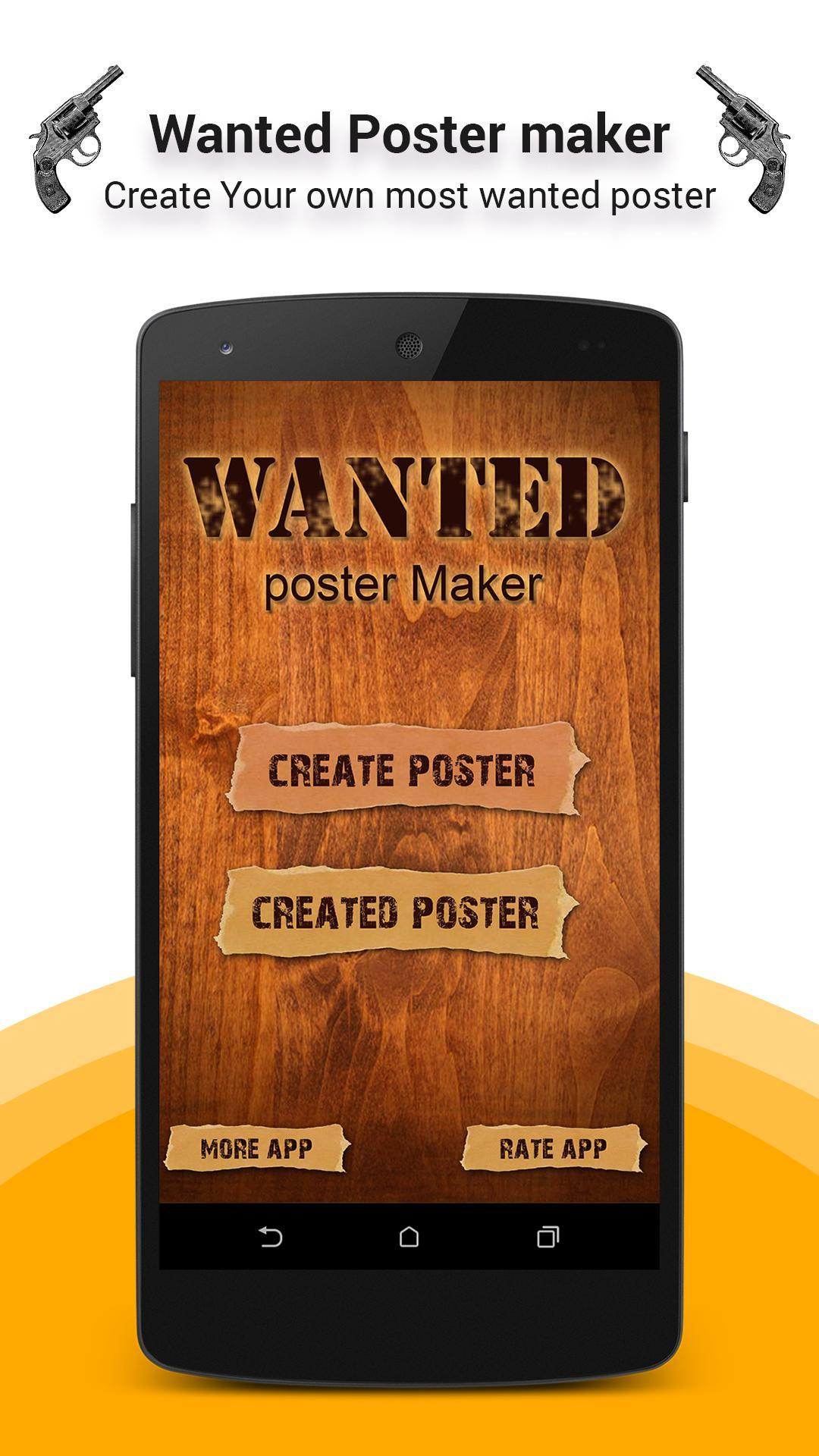 Wanted Poster Maker Для Андроид  Скачать Apk inside Make Your Own Wanted Sign