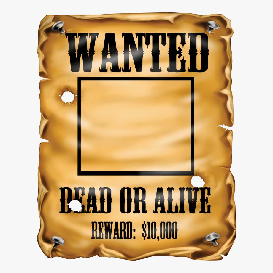 Wanted Transparent Flyer Template  Transparent Wanted regarding Wanted Poster Template Free Printable