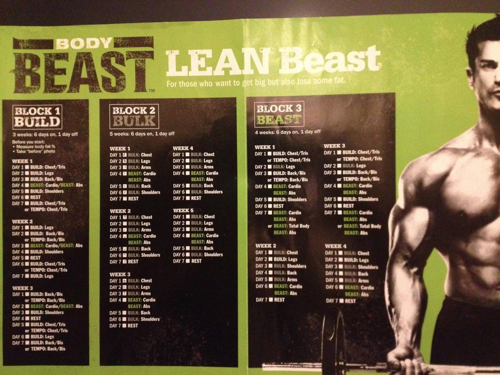 Week 1 Body Beastt25 Hybrid And Meal Plan | Melanie Mitro within Body Beast Hybrid Calendar