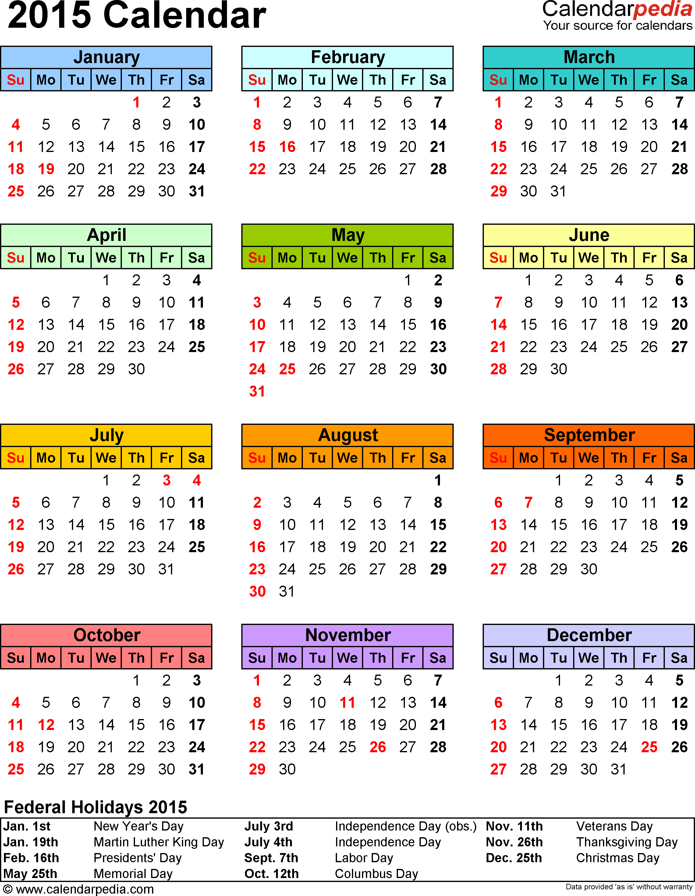 Weekly Calendar 2015 Printable  Bolan.horizonconsulting.co with regard to Printable Monthly Calendar 2015