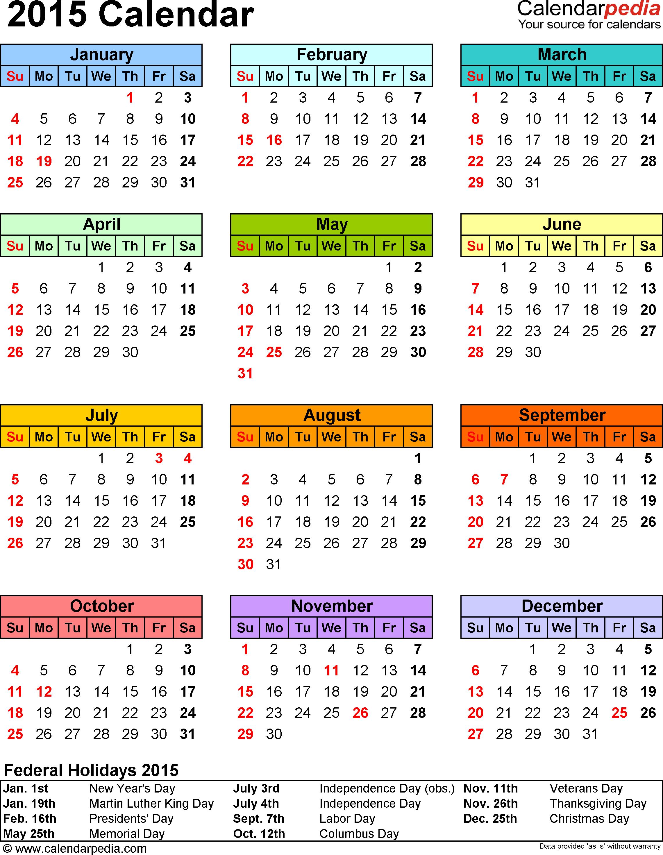 Weekly Calendar 2015 Printable  Bolan.horizonconsulting.co with regard to Printable Monthly Calendar 2015