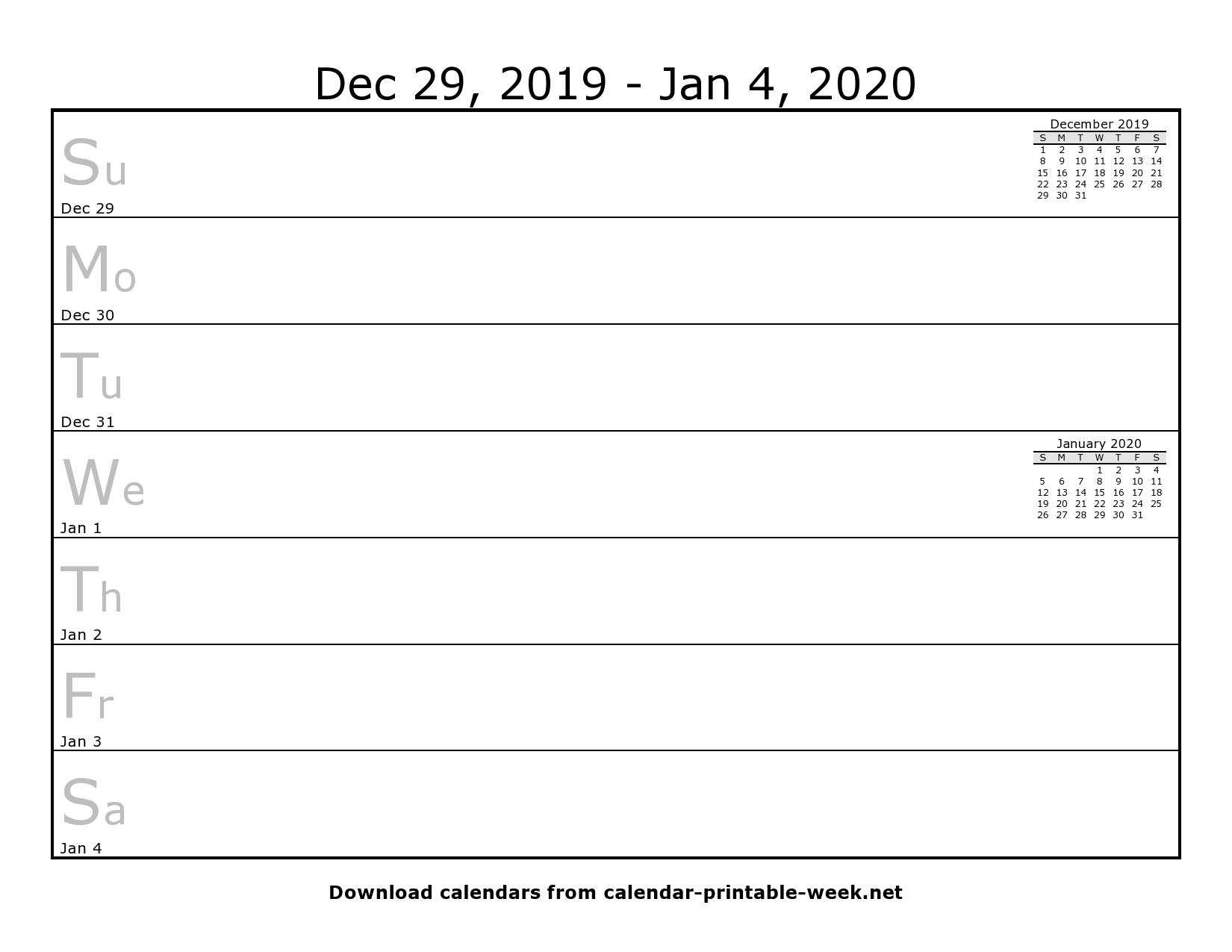 Weekly Calendar Blank – Calendar Printable Week regarding One Week Calendar Printable