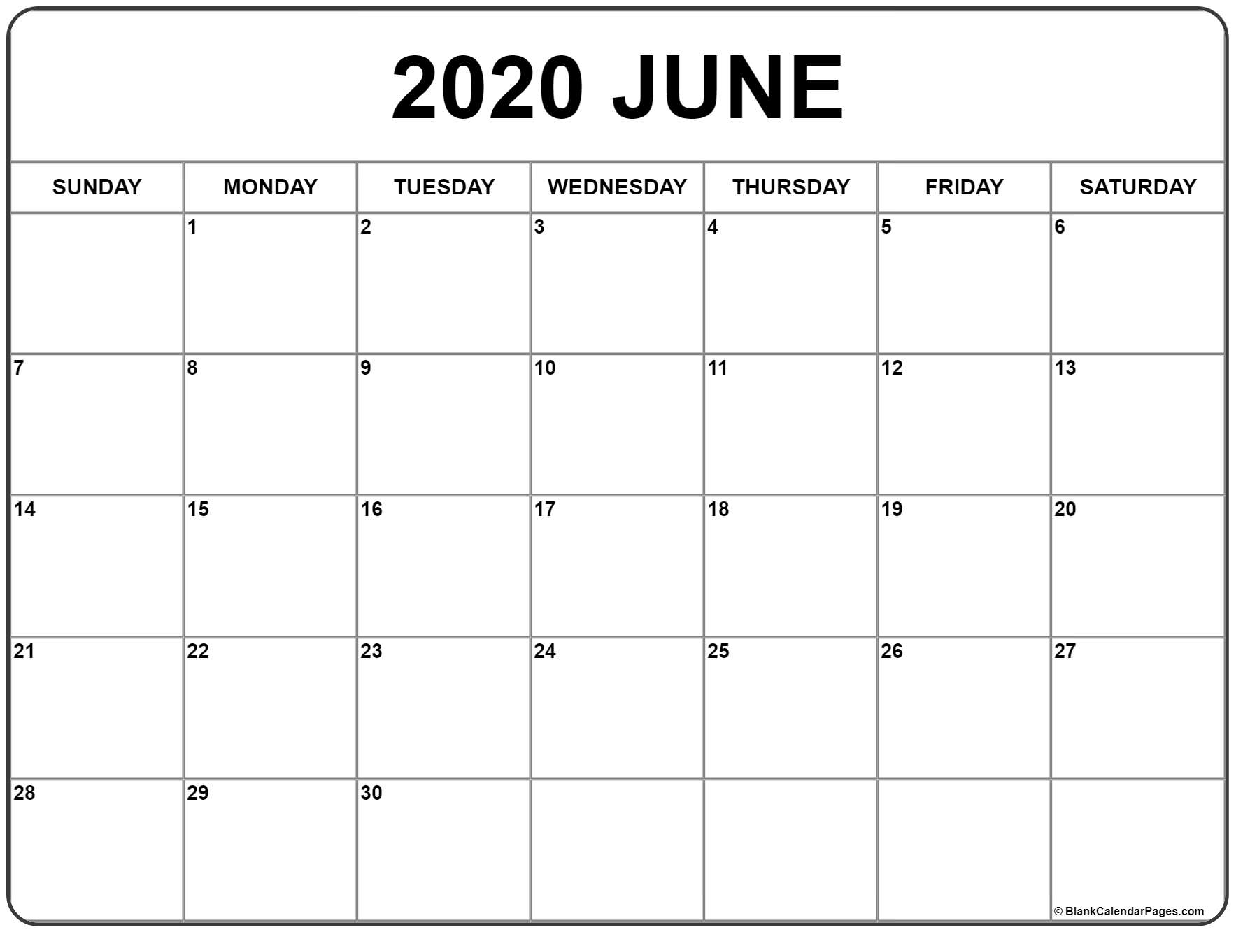 Weekly Calendar June 2020  Bolan.horizonconsulting.co pertaining to Calendars Michel Zbinden 2020