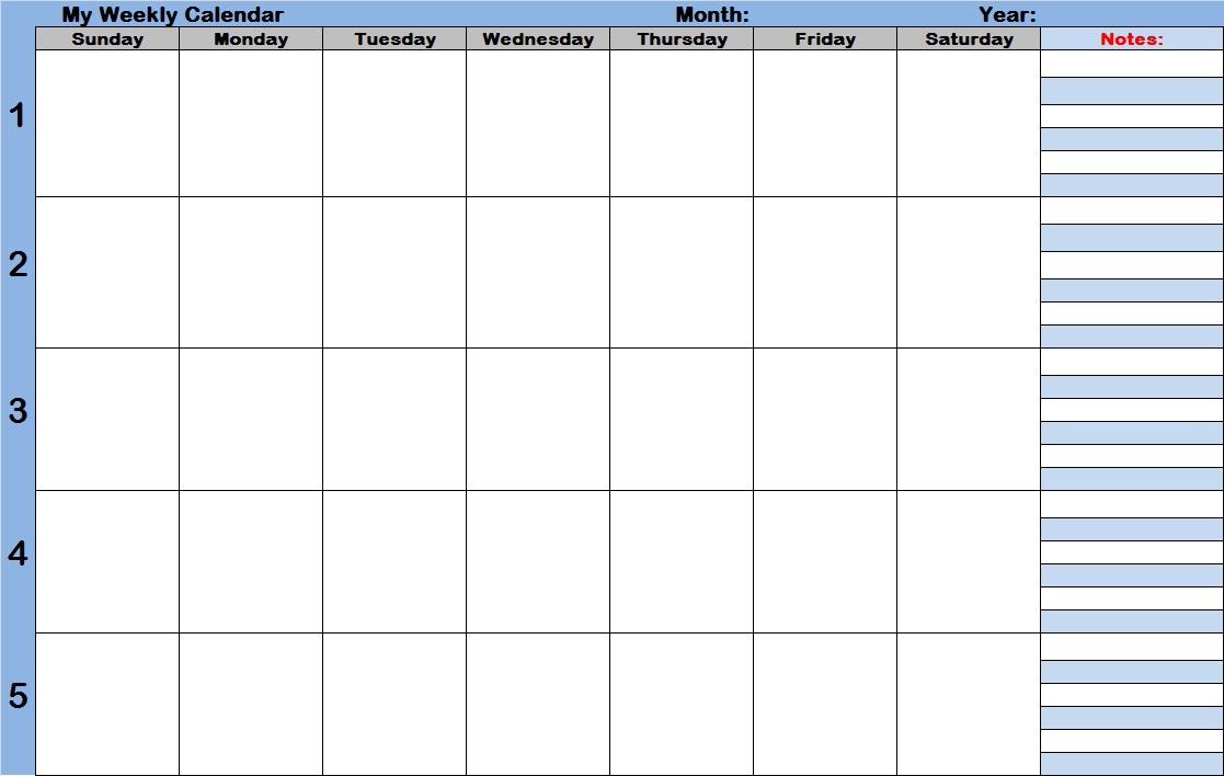 Weekly Calendar With Time Slots – Printable Week Calendar throughout Monthly Calendar With Time Slots Template