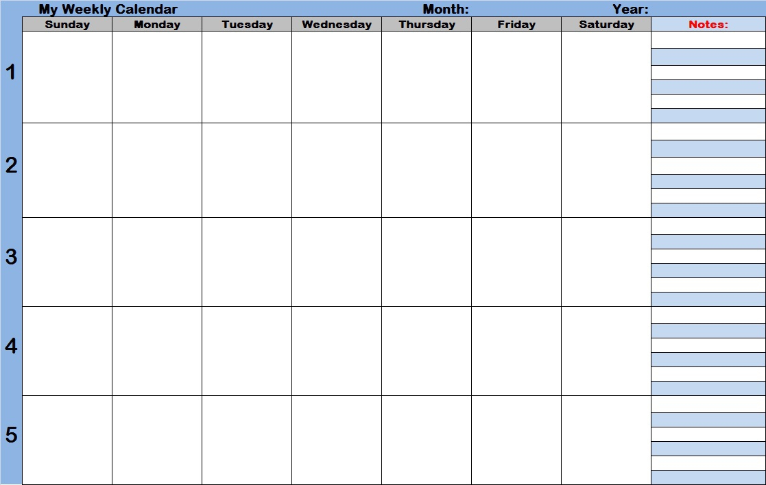 Weekly Calendar With Time Slots – Printable Week Calendar with Weekly Calendar With Time Slots