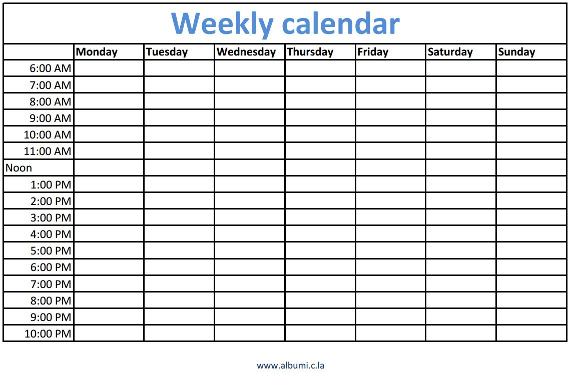 Weekly Calendars With Times Printable | Calendars  Kalendar throughout Weekly Calendar With Time Slots