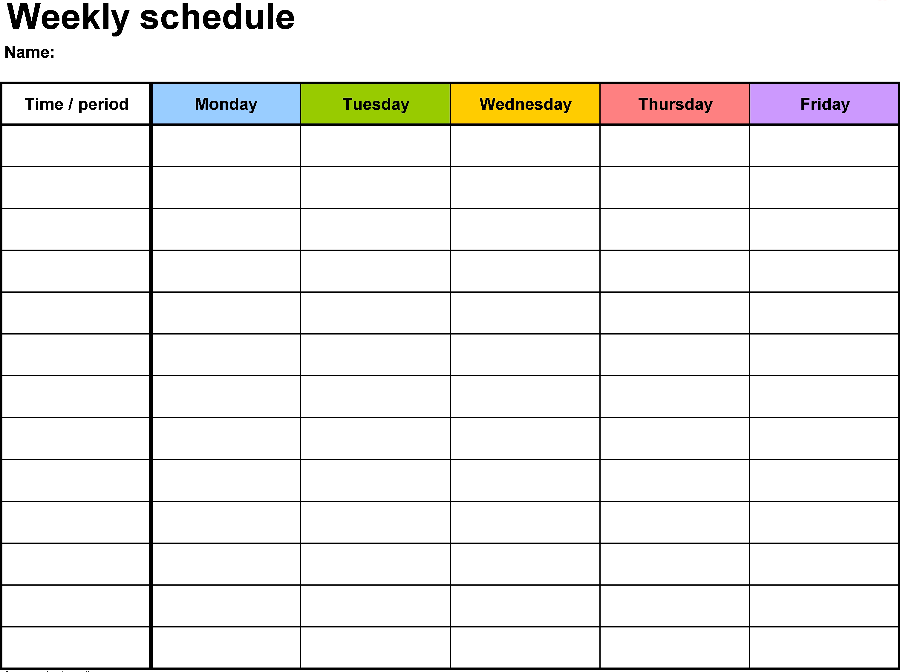 Weekly Hourly Calendar Template | Monthly Calendar Template intended for Hourly Weekly Calendar