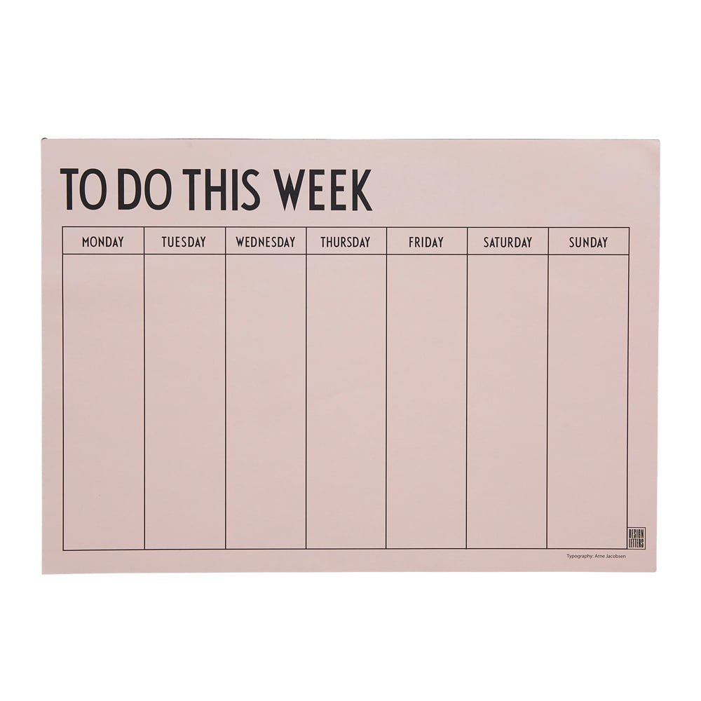 Weekly Planner in 5 Days A Week Planner