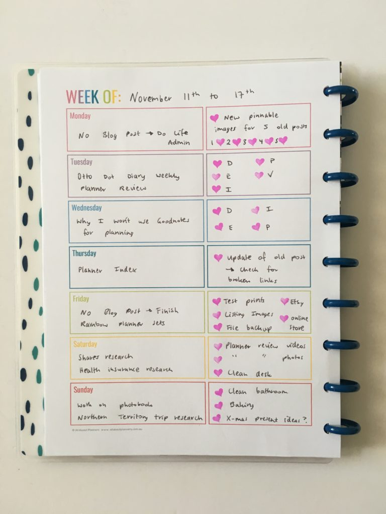 Weekly Planning In A Rainbow Theme  Does It Ever Get Boring for All About Planners
