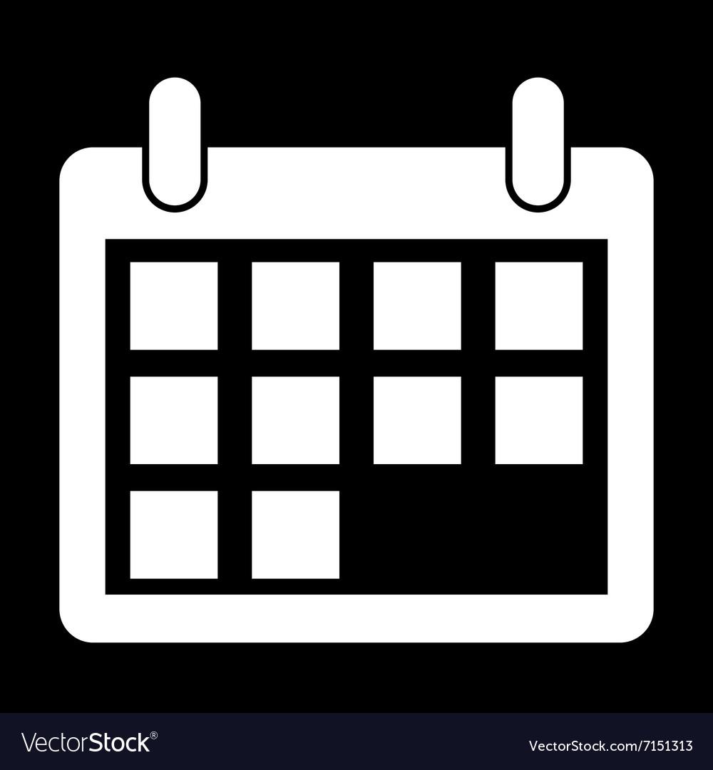 White Calendar Icon intended for Calendar Icon White