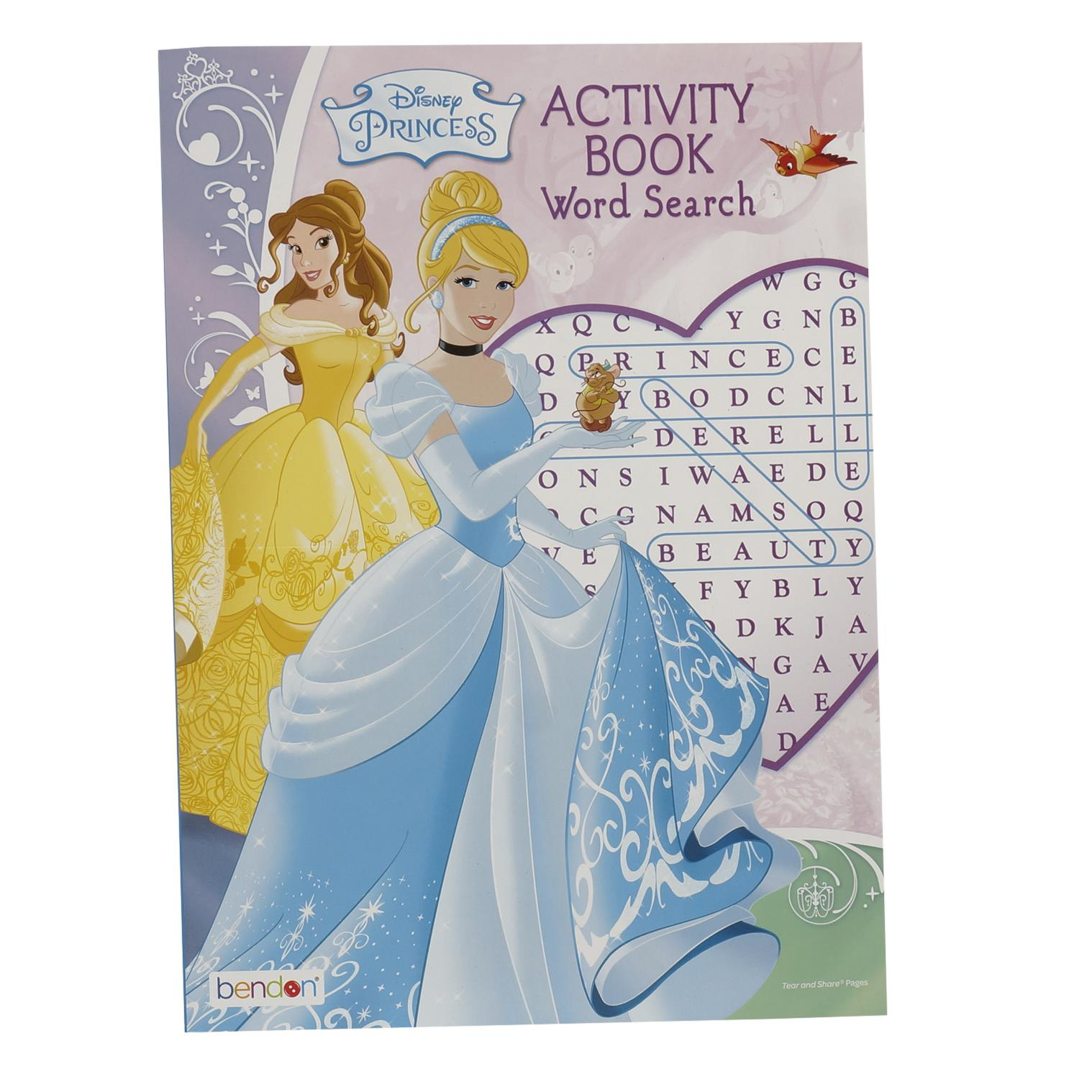 Wholesale Disney Princess Activity Word Search Book | | in Disney Princesses Word Search