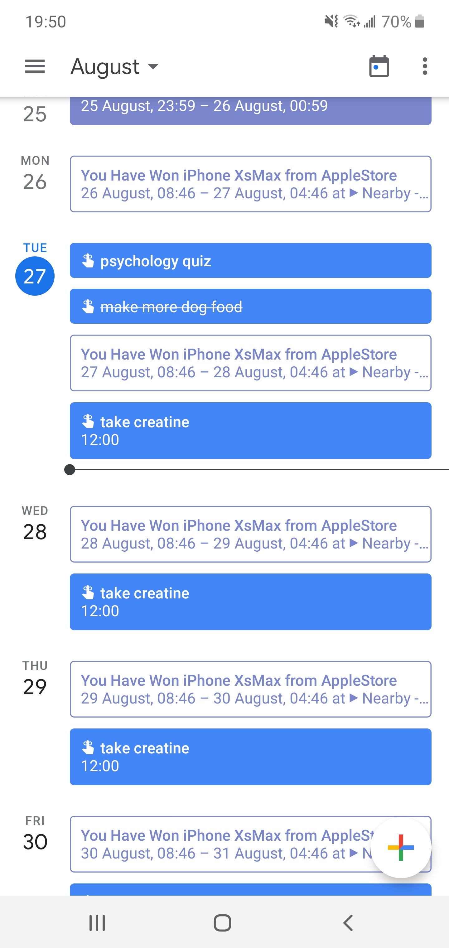 Why Is My Google Calendar Doing This? Help Me Stop It Please within Max 30 Calendar