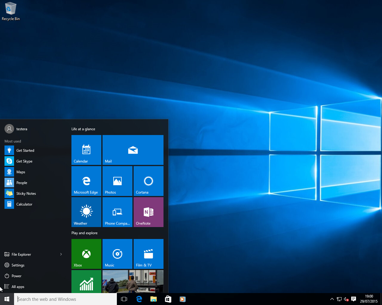 Windows 10 Desktop within Windows 10 Desktop Calendar
