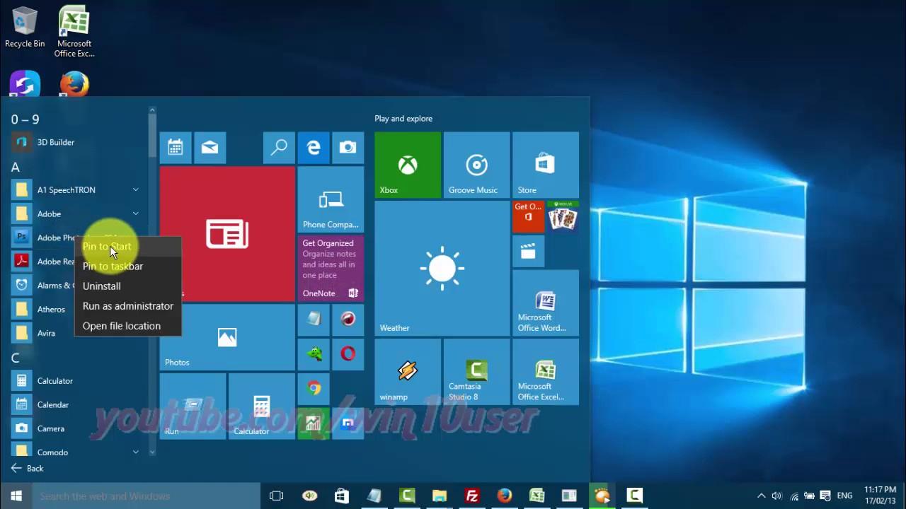 Windows 10 : How To Pin Or Unpin App To Taskbar inside Add Google Calendar To Taskbar Windows 10