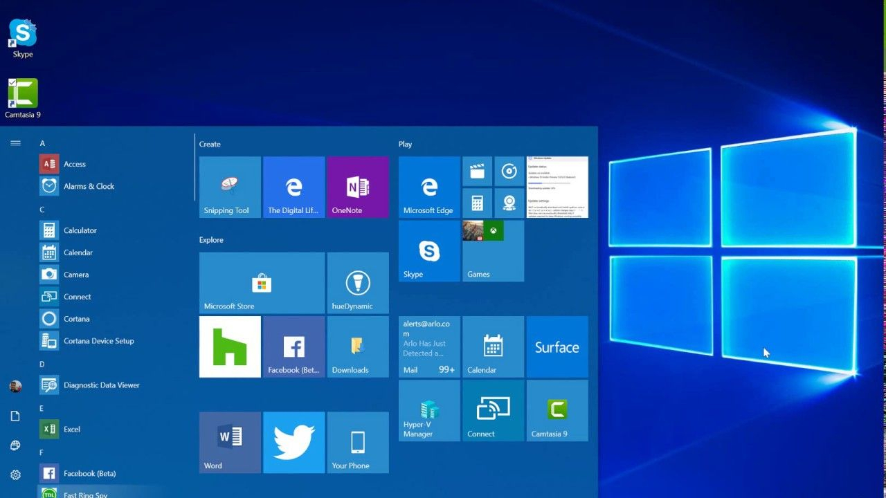 Windows 10 Places, Those Plus Contact, Desktop, Downloads intended for Windows 10 Desktop Calendar