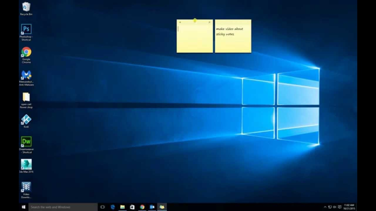 Windows 10 Sticky Notes for Windows 10 Widgets Notes