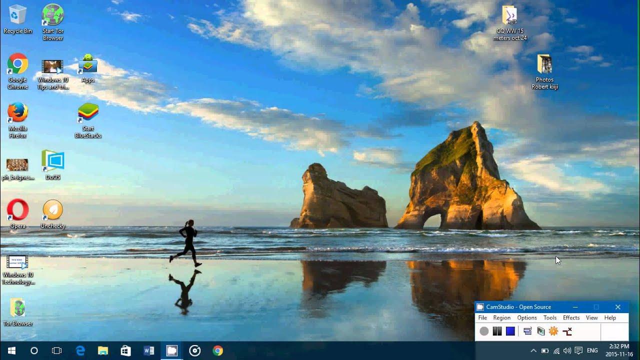 Windows 10 Tips And Tricks How To Set A Desktop Wallpaper Background  Slideshow within Set Calendar As Desktop Background Windows 10