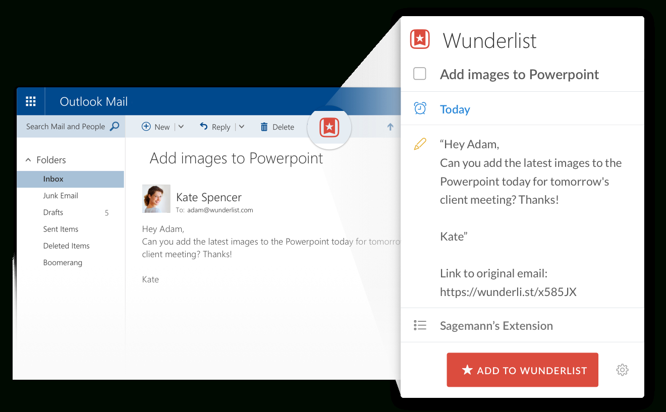 Wunderlist For Outlook inside Wunderlist Calendar App
