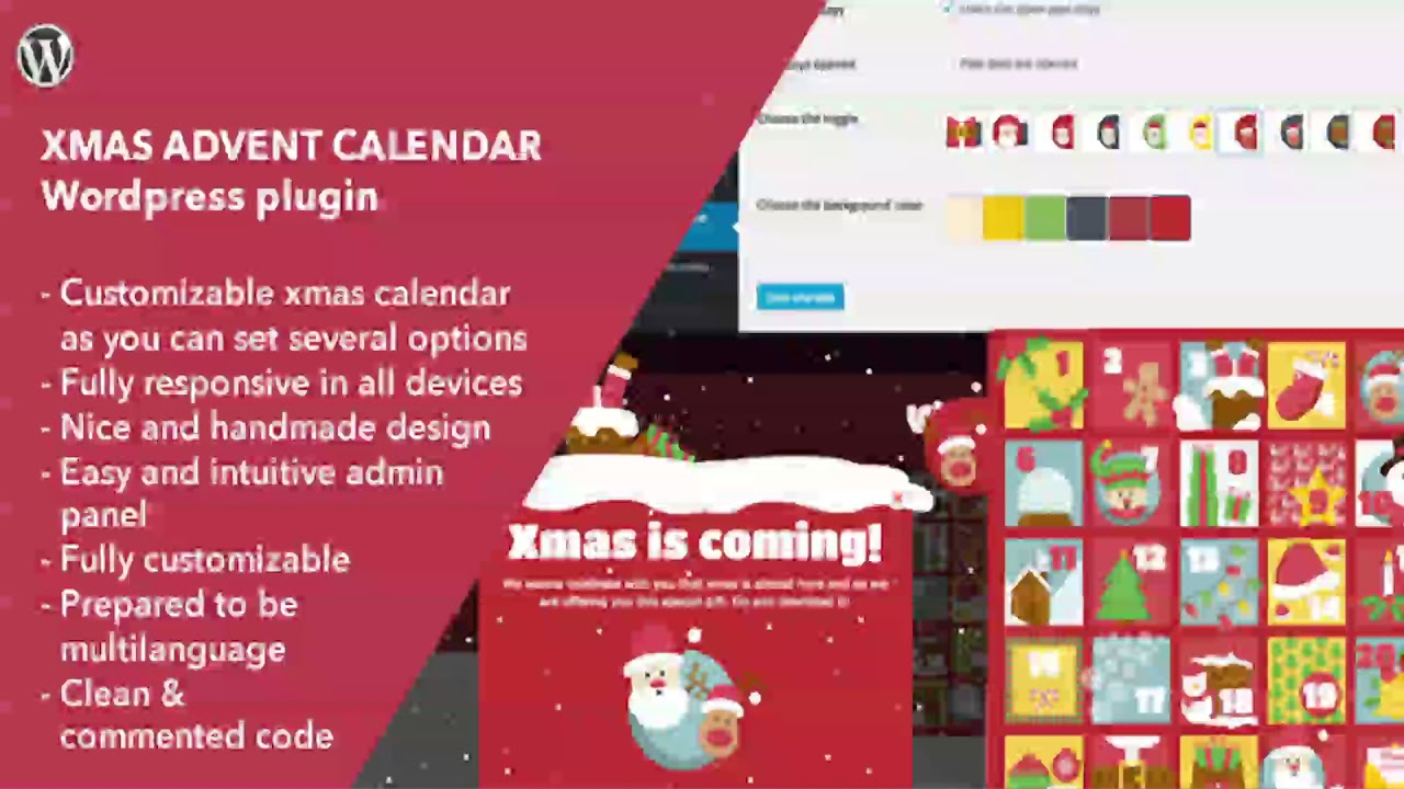 Xmas Advent Calendar  WordPress Plugin | Codecanyon Scripts within Advent Calendar WordPress Plugin