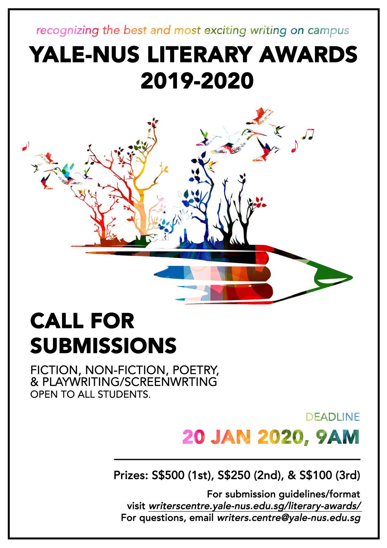 Yalenus Literary Awards 20192020  Arts And Humanities throughout Nus Academic Calendar 2020