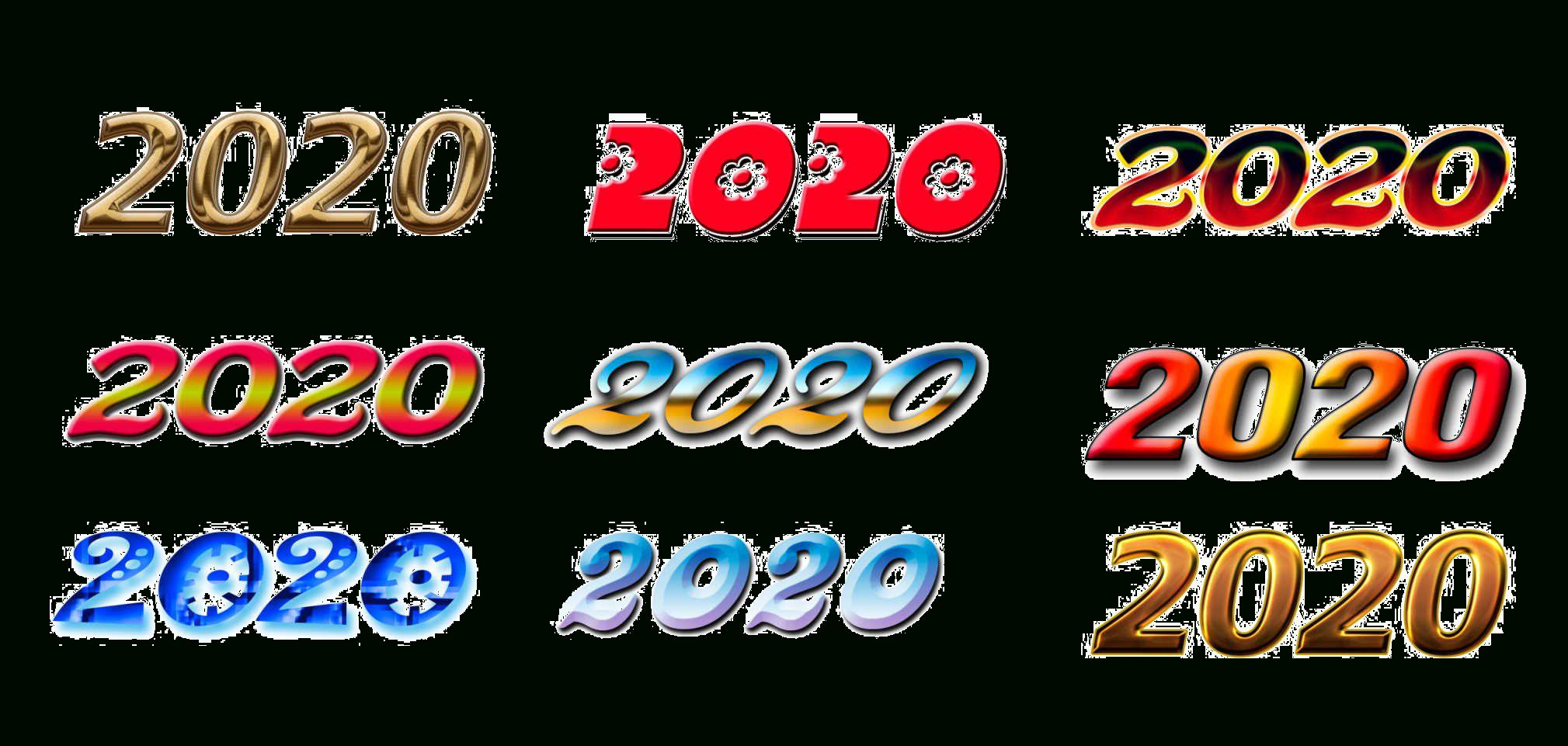 Year 2020 Transparent Background | Png Mart inside 2020 Transparent Background
