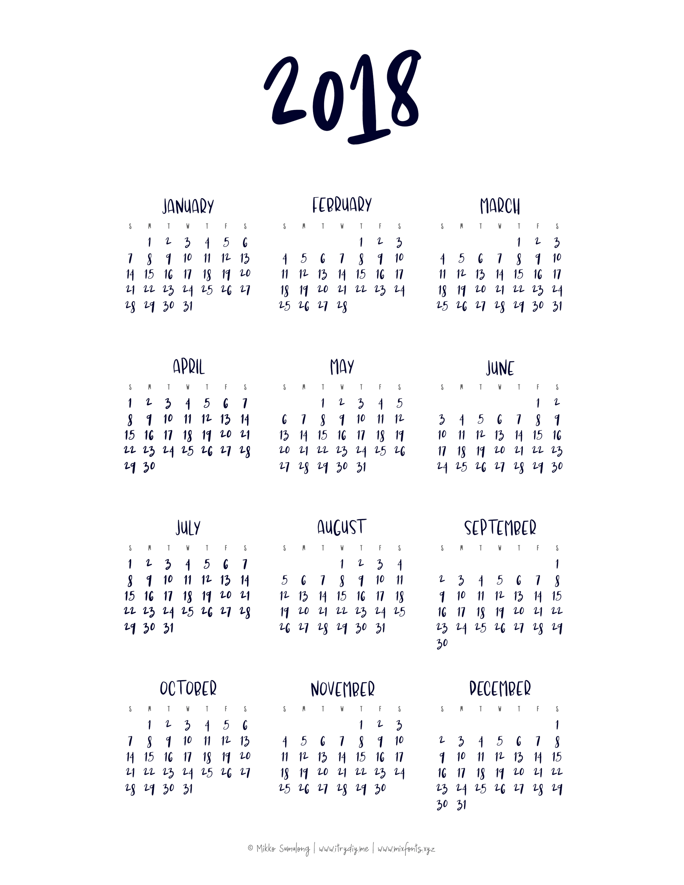 Year At A Glance Calendar | Printable Yearly Calendar, At A for Year At A Glance Calendar Printable