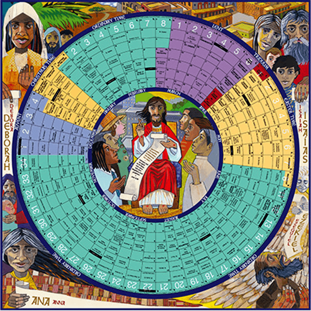 Year Of Grace Liturgical Calendar: 2020 Laminated Poster Edition | Aquinas  And More Catholic Gifts within Catholic Liturgy Calendar 2020