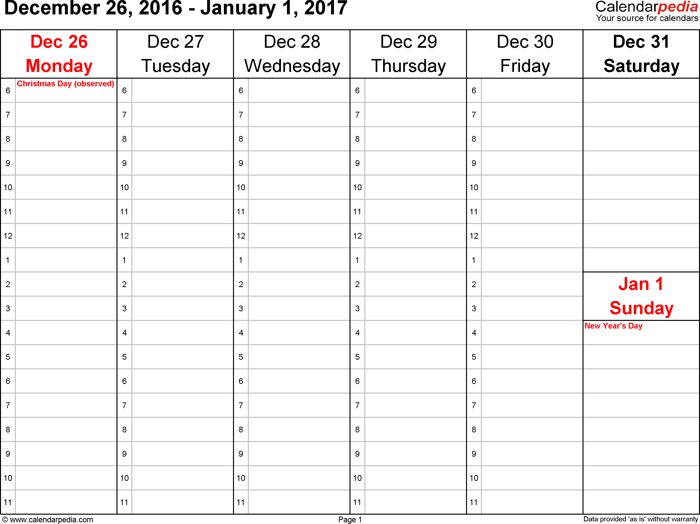 Yearly Calendar By Day | Yearly Calendar Pdf throughout Time And Date Weekly Calendar