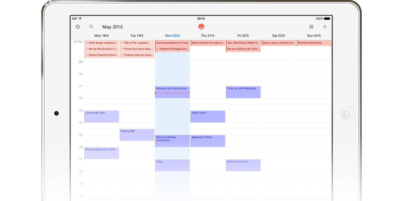 You Can Now View And Create Wunderlist Tasks In Sunrise Calendar with regard to Wunderlist Calendar App