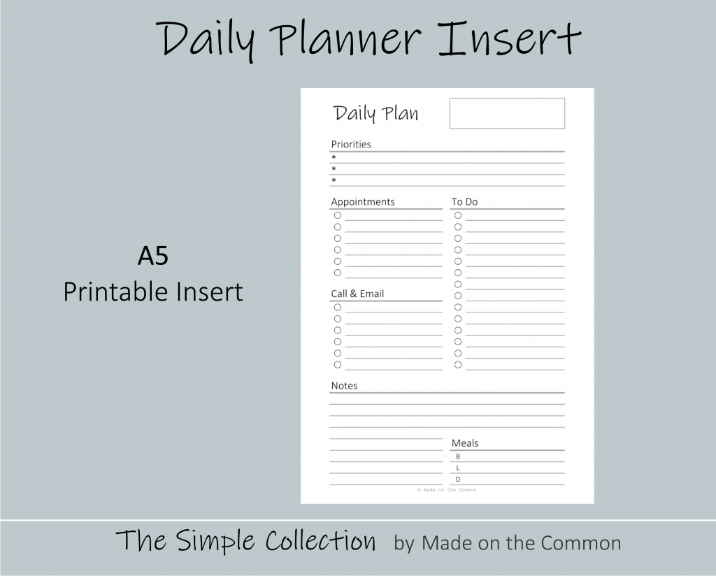 10 Awesome Inserts You Need In Your Planner  Made On The Common regarding Free Planner Refills Printable