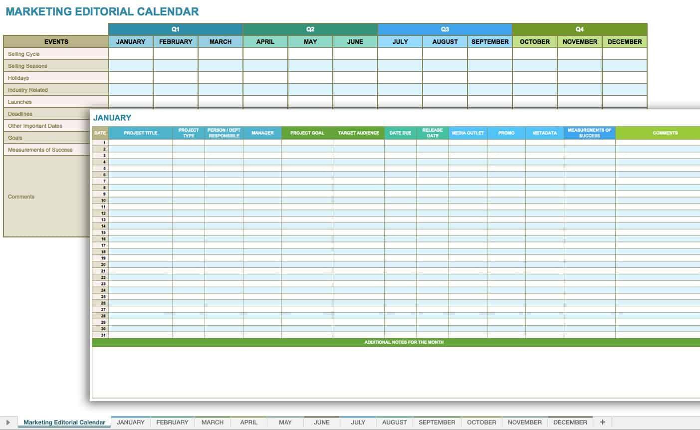 12 Free Social Media Templates | Smartsheet regarding Smartsheet Social Media Calendar