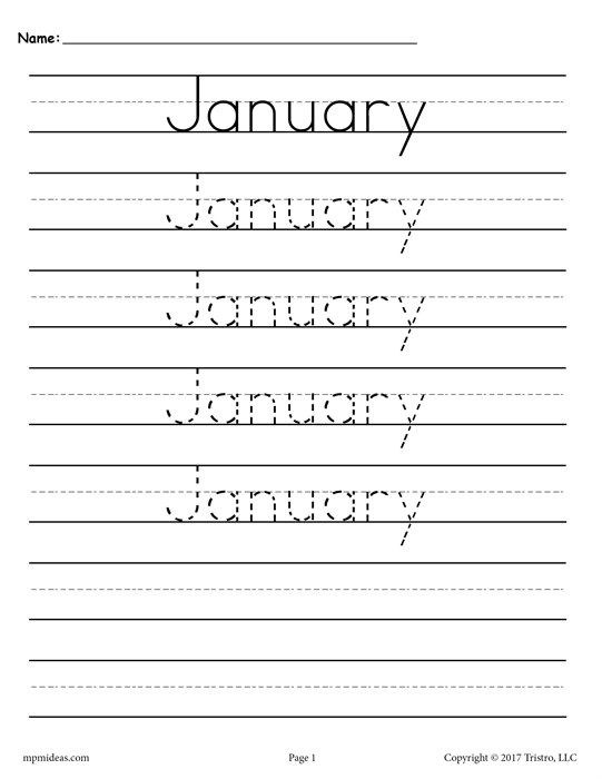 12 Months Of The Year Handwriting Worksheets | Handwriting inside Hebrew Calendar Worksheets And How To Make One