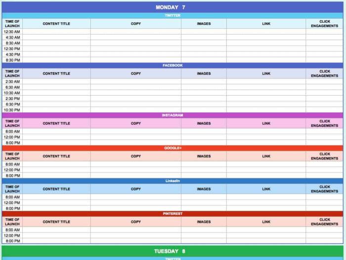 15+ Free Marketing Calendar Templates   Smartsheet within Smartsheet Social Media Calendar