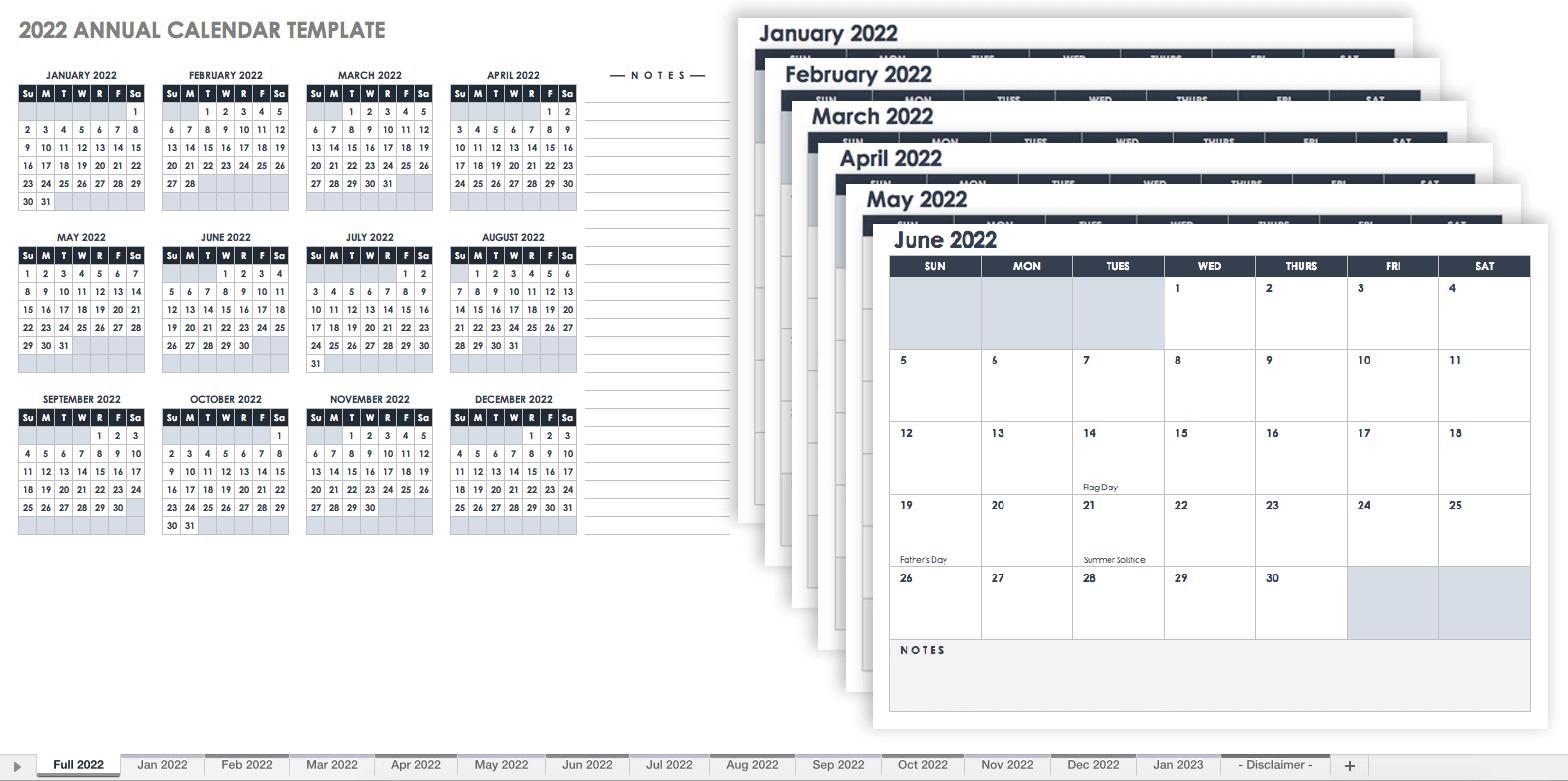 15 Free Monthly Calendar Templates | Smartsheet for 3 Month Calendar Template