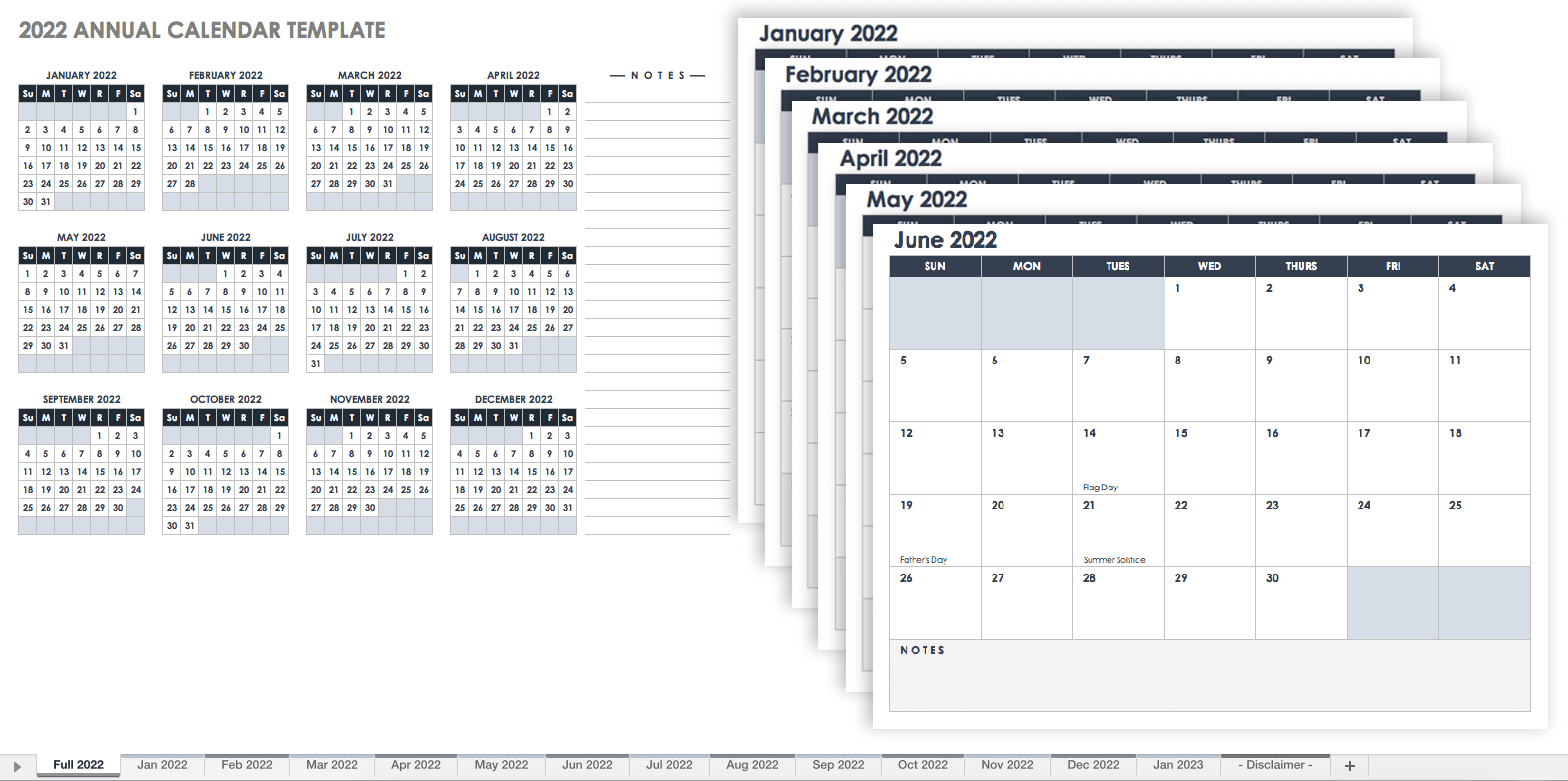 15 Free Monthly Calendar Templates | Smartsheet pertaining to Free Printable Calendar 4 Months Per Page